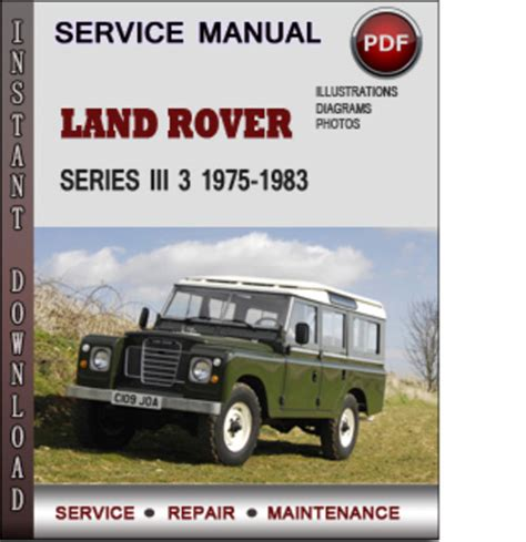 service repair manual free download 1986 land rover range rover on board diagnostic system land rover series iii 3 1975 1983 factory service repair manual dow