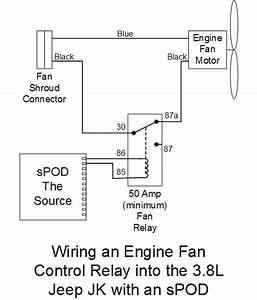 Installing A Fan Relay  To Turn Off The Fan For Fording