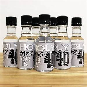custom mini bottle birthday favors personalized liquor With diy mini liquor bottle labels