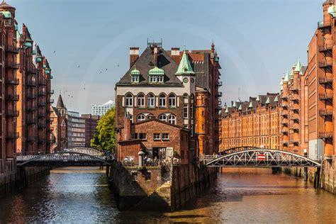 Hamburg Speicherstadt  Art Panorama Bilder Von Elbe Und