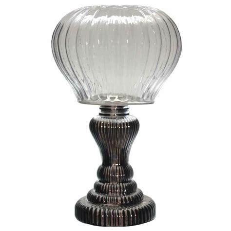 cm vintage style silver base hurricane lantern glass