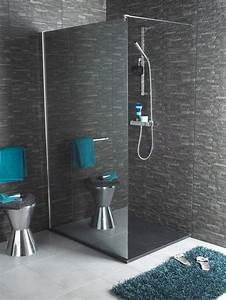 Miroir De Douche : salle de bain une douche dimension c t maison ~ Nature-et-papiers.com Idées de Décoration