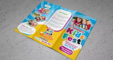 kids brochure templates  printable sample designs