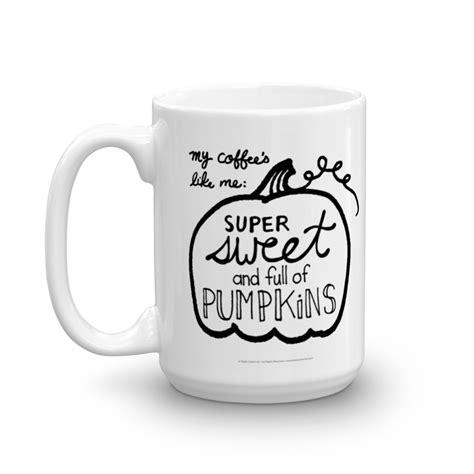 sweet and pumpkin coffee mug steph calvert art