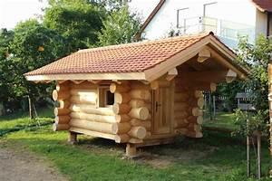 blockhutte sauna naturstammhutte gartenhutte in harburg With französischer balkon mit sauna für den garten