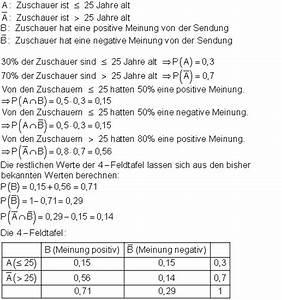 Wahrscheinlichkeit Rechnung : l sungen zu bedingte wahrscheinlichkeit ii mathe brinkmann ~ Themetempest.com Abrechnung