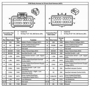 I Am Looking For A Connector Diagram For 2005 Gmc Sierra Heated Leather Seats  U0026 39 Pinout U0026 39   I Will