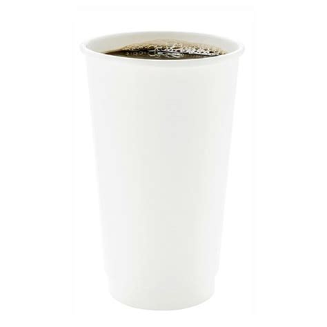 Perfectly suited for a multitude of hot and cold beverages. Paper Coffee Cups - Disposable Coffee Cups - Double Wall - White - 4oz. - 500 Count Box