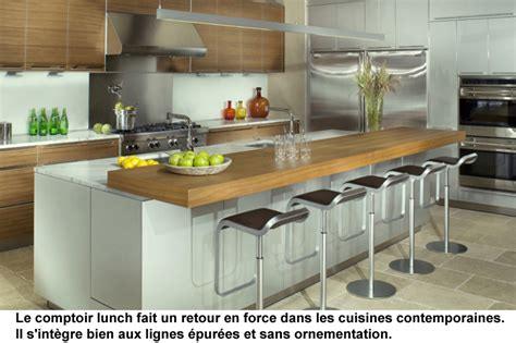 la cuisine du comptoir cuisine de design contemporain et r 233 novation