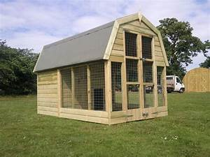 Dutch barn dog kennel for Dog barn kennels