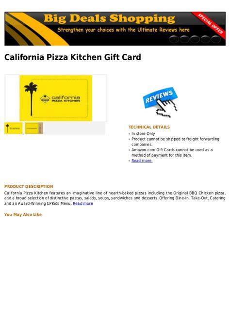 california pizza kitchen gift card