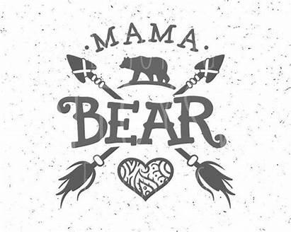 Mama Bear Svg Cricut Vinyl Cut Silhouette