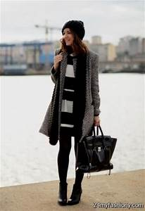 Winter black dress outfits 2016-2017 | B2B Fashion
