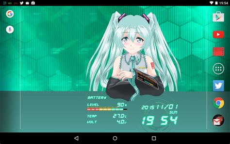 Anime Live Wallpaper App - miku 2d anime livewallpaper android apps on play
