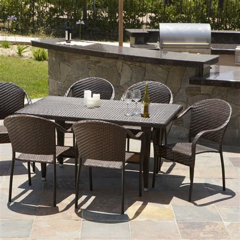 livingston 7 wicker outdoor dining set great deal
