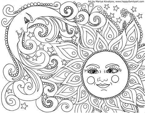 original and fun coloring pages Moon coloring pages