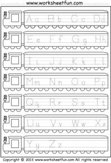 free printable capital and small letter tracing worksheet printable worksheets pinterest