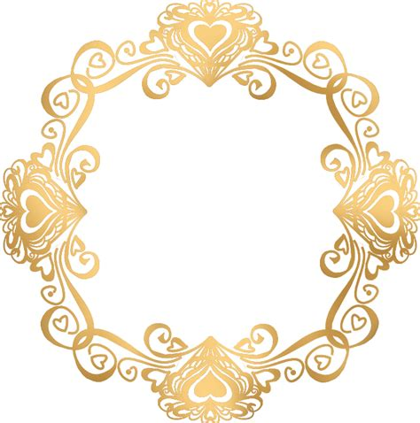 gold flower frame png file png mart
