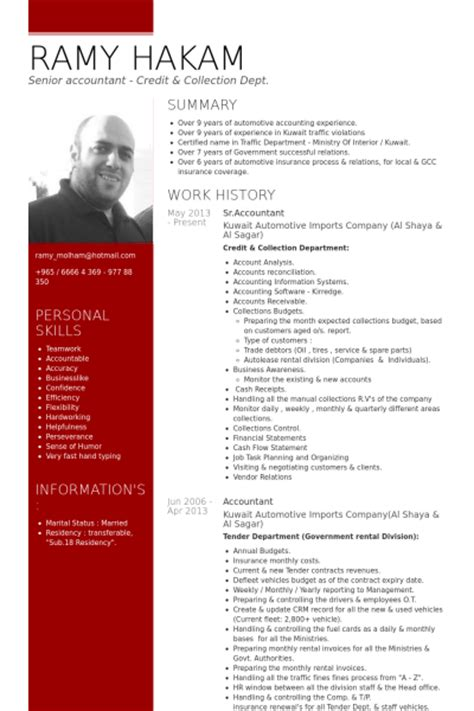 Accounting Resume Exles 2012 by Accountant Resume Sles Visualcv Resume Sles Database