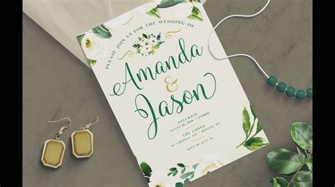 create  wedding invitation design  photoshop