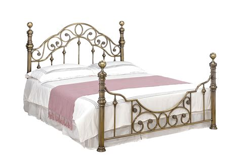 shabby chic bed frame king new luxury brass metal bed frame victorian antiqued shabby chic double king size ebay