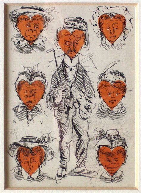 playing cards   hearts drawn  thomas claude wade