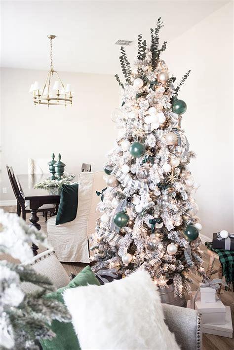 hunter green christmas tree decorations   holidays