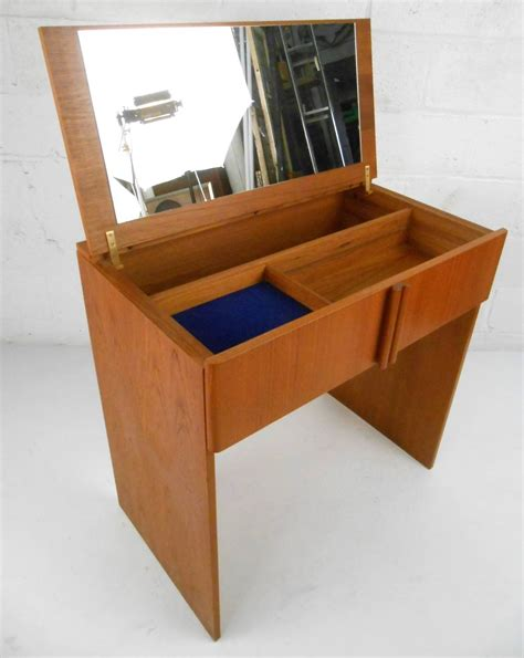 mid century vanity table mid century modern teak vanity dressing table by