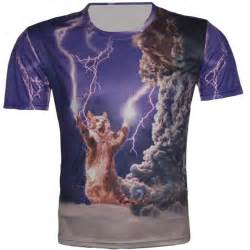 cat shirts new unisex galaxy t shirt print 3d animal cat design