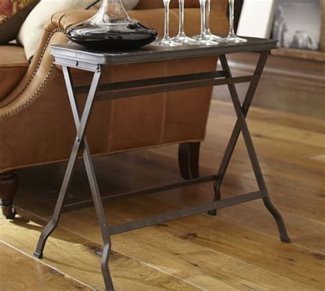 metal folding tray table pottery barn