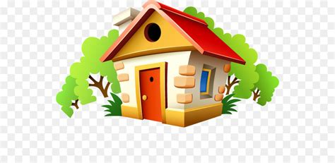 Cartoon Small House Creative Png Download