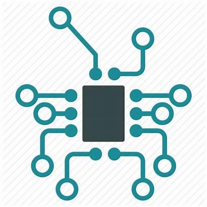 Technology Electronic Electronics Scheme Topology Icon Hardware