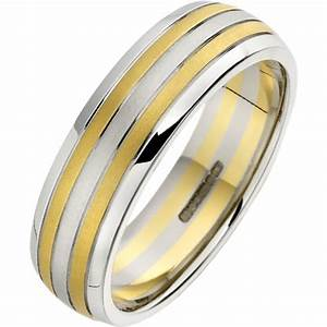 a stunning mixed metal mens wedding ring in 18ct white With mixed gold wedding rings