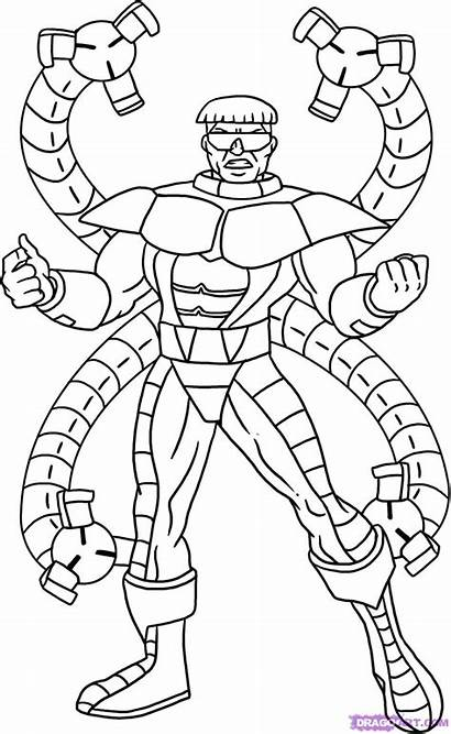 Marvel Coloring Octopus Spiderman Disegno Dottor Doctor