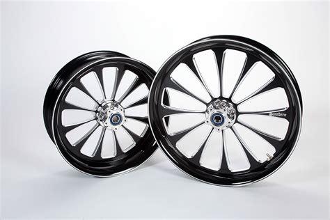 Harley Davidson Black Contrast Motorcycle Wheels