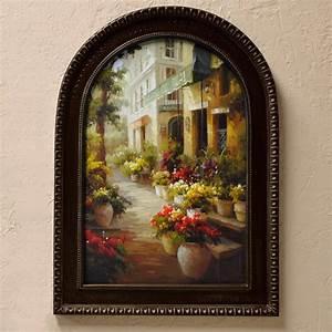 tuscan wall art chemin de fleur With tuscan wall art