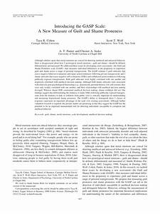 (PDF) Introducing the GASP Scale: A New Measure of Guilt ...