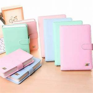 Cute 365 Planner Leather Journal Notebook Color Pages Dot
