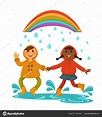 Rainy Weather Pictures For Kids - Coloring wall