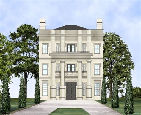 story neo classical home plan jl architectural designs house plans