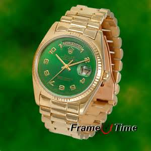 Men's Rolex President Gold Watch
