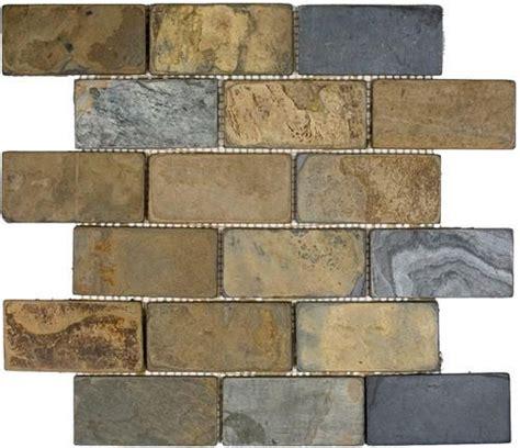tumbled slate floor epoch tile california rustic tumbled slate mosaic floor or wall tile 2 quot x 4 quot kitchens