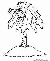 Coloring Island Printable Ilha Coqueiro Escondido Homem Adults Colorir Desenho Treasure Sheets Deserted Muppet Printactivities Tree Tudodesenhos Pdf Jawar Clipart sketch template