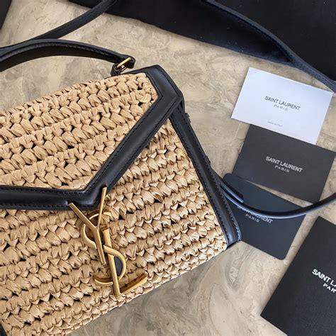 cassandra monogram clasp bag  canvas  smooth leather aaapurse