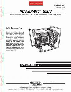 Lincoln Electric Powerarc 5500 Svm197 A Users Manual
