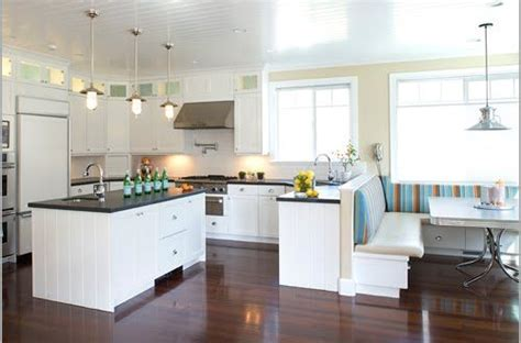 L Shaped Banquette Off Kitchen Bench