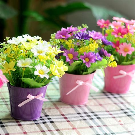 small flowering plants for pots flower garden picture more detailed picture about artificial flowers wholesale silk flower