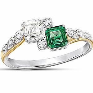 diamonesk ring jacqueline kennedy inspired ring of With bradford exchange wedding rings