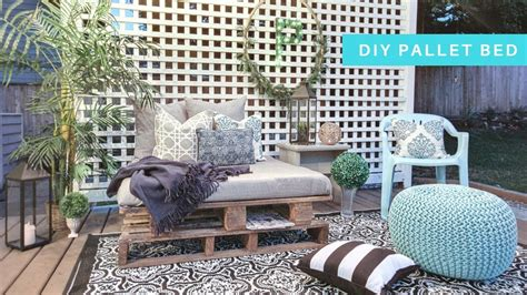 diy pallet daybed youtube