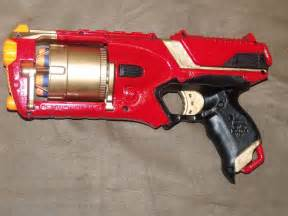 Red Custom Painted Nerf Guns